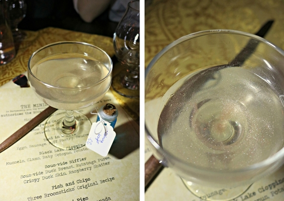 Liquid Luck in The Gluttonous Geek's recap of the 2016 Hogwarts Yule Dinner at Battle and Brew.