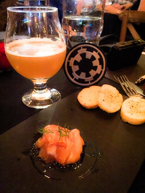 Battle & Brew's Star Wars Imperial Recruitment Dinner hosted dishes inspired by planets occupied by the Galactic Empire.