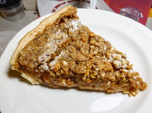 Captain America inspired Apple Pie with Dorito and Hazelnut Steusel. Recipe by The Gluttonous Geek.