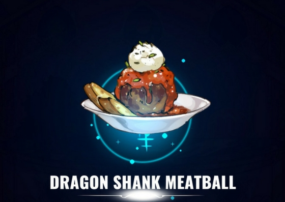 Cezar's Dragon Shank Meatball from Battle Chef Brigade.