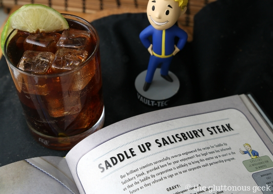 Nuka Cola and The Official Fallout Cookbook by Victoria Rosenthal. Photo and review by The Gluttonous Geek.