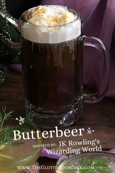 Butterbeer inspired by Harry Potter by JK Rowling. Recipe by The Gluttonous Geek.