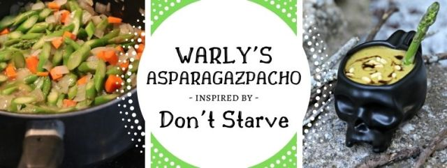 Warly's Asparagazpacho inspired by Don't Starve. Recipe by The Gluttonous Geek.
