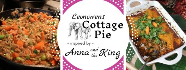 Leonowens Cottage Pie inspired by Anna and the King. Recipe by The Gluttonous Geek.