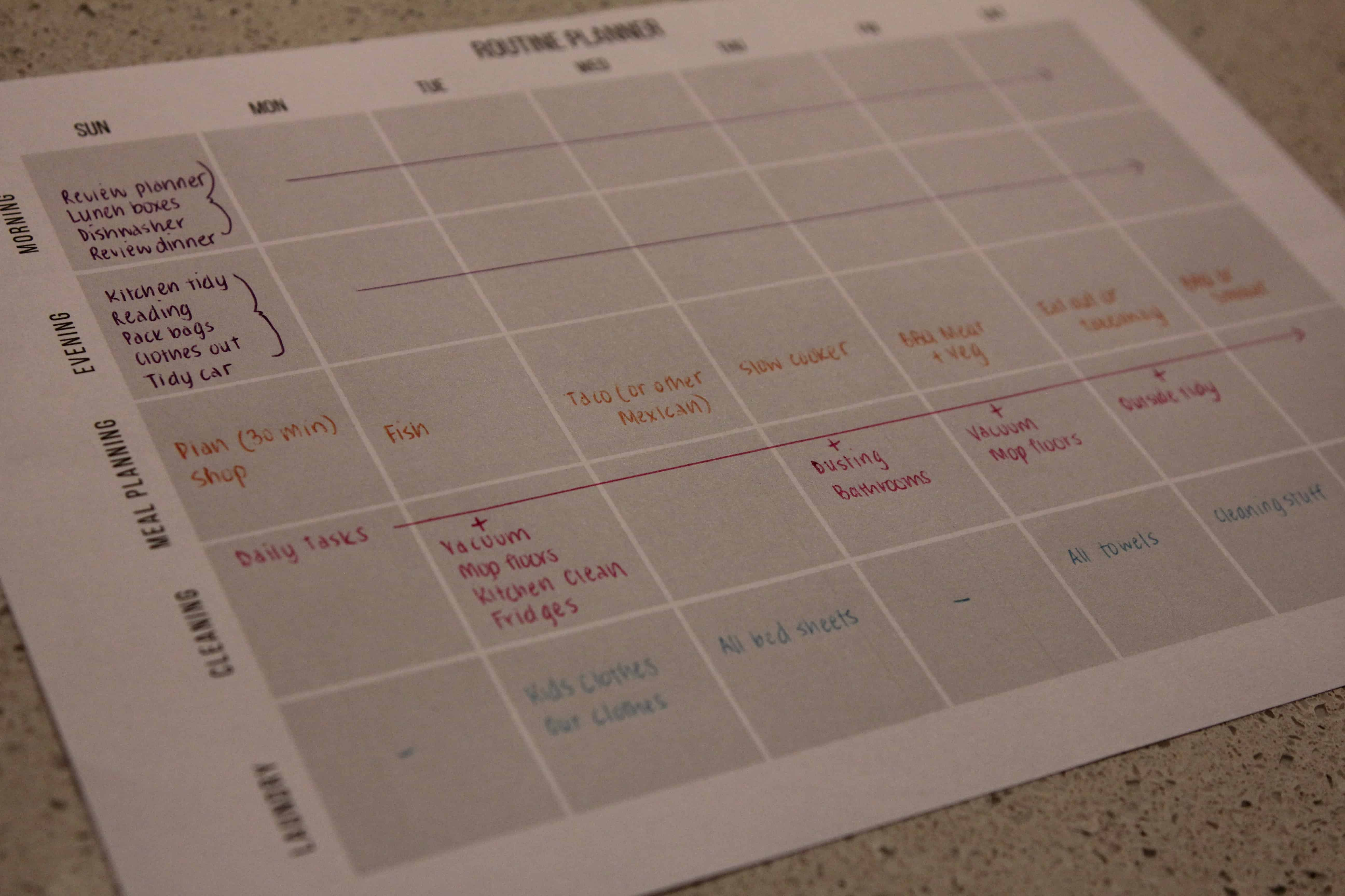 Routine Planner