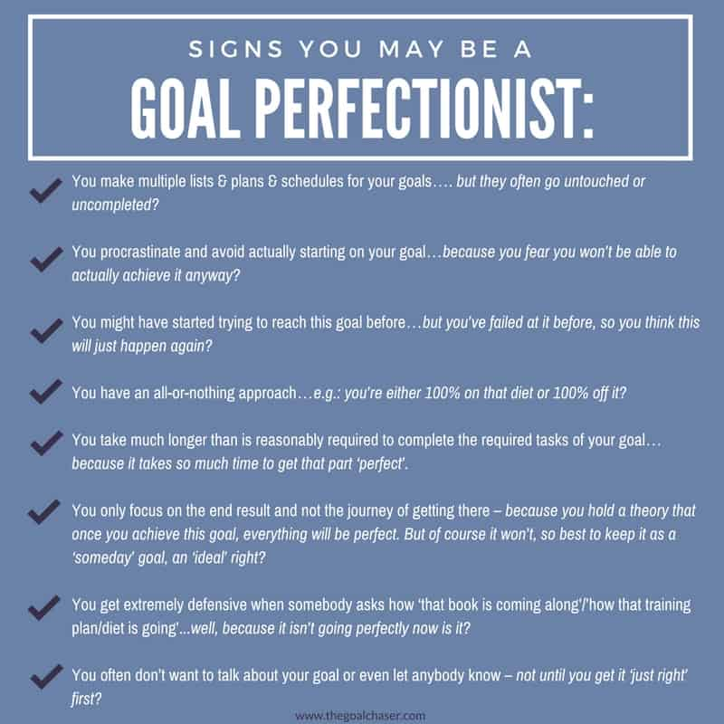 Signs You May Be A Goal Perfectionist