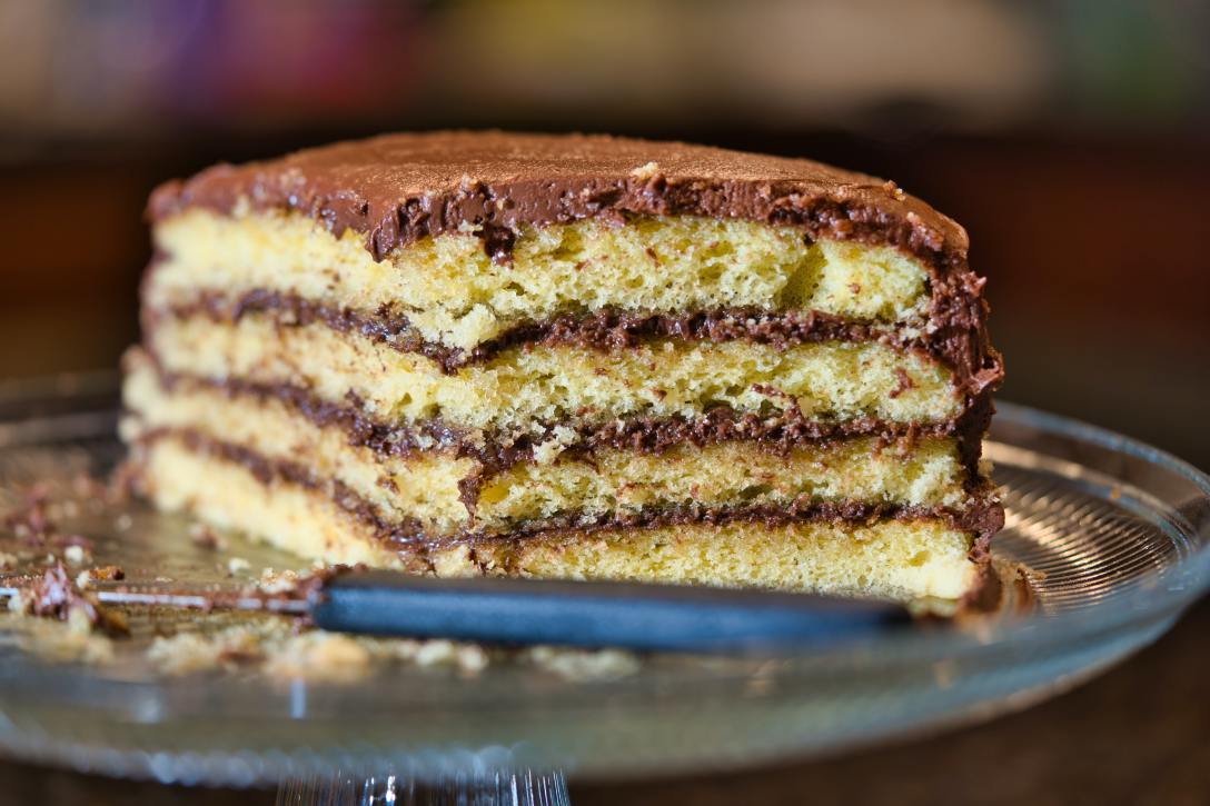 Photo of yellow cake with chocolate icing by Clint Patterson on Unsplash