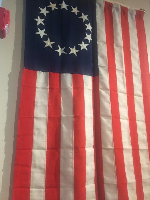 Patriotic Betsy Ross flag Philadelphia city