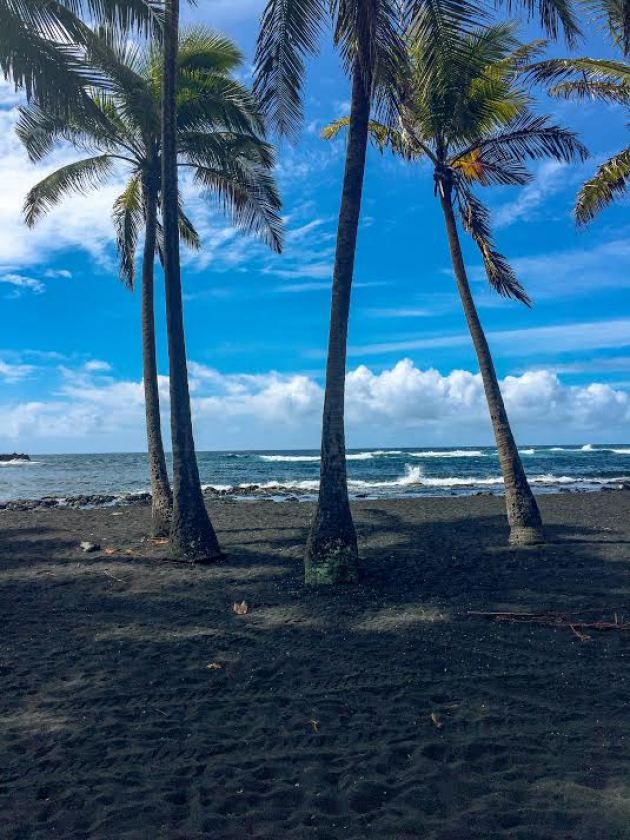 Big Island black sand beach adventure