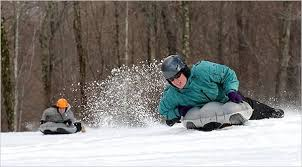 Airboarding is a unique outdoor winter activity