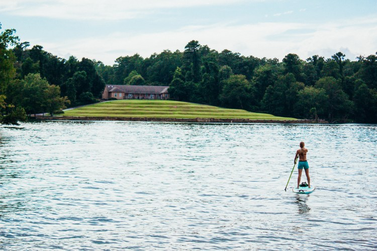 Day Trip paddle boarding at Lake Greenwood, SC