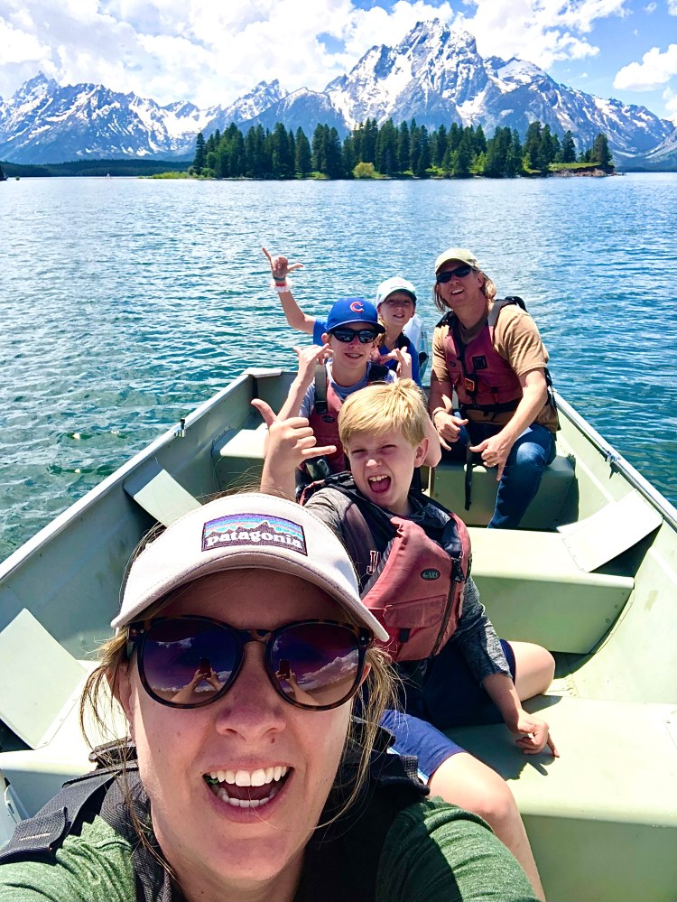 Boat Rental Fun on Jackson Lake in Grand Teton National Park
