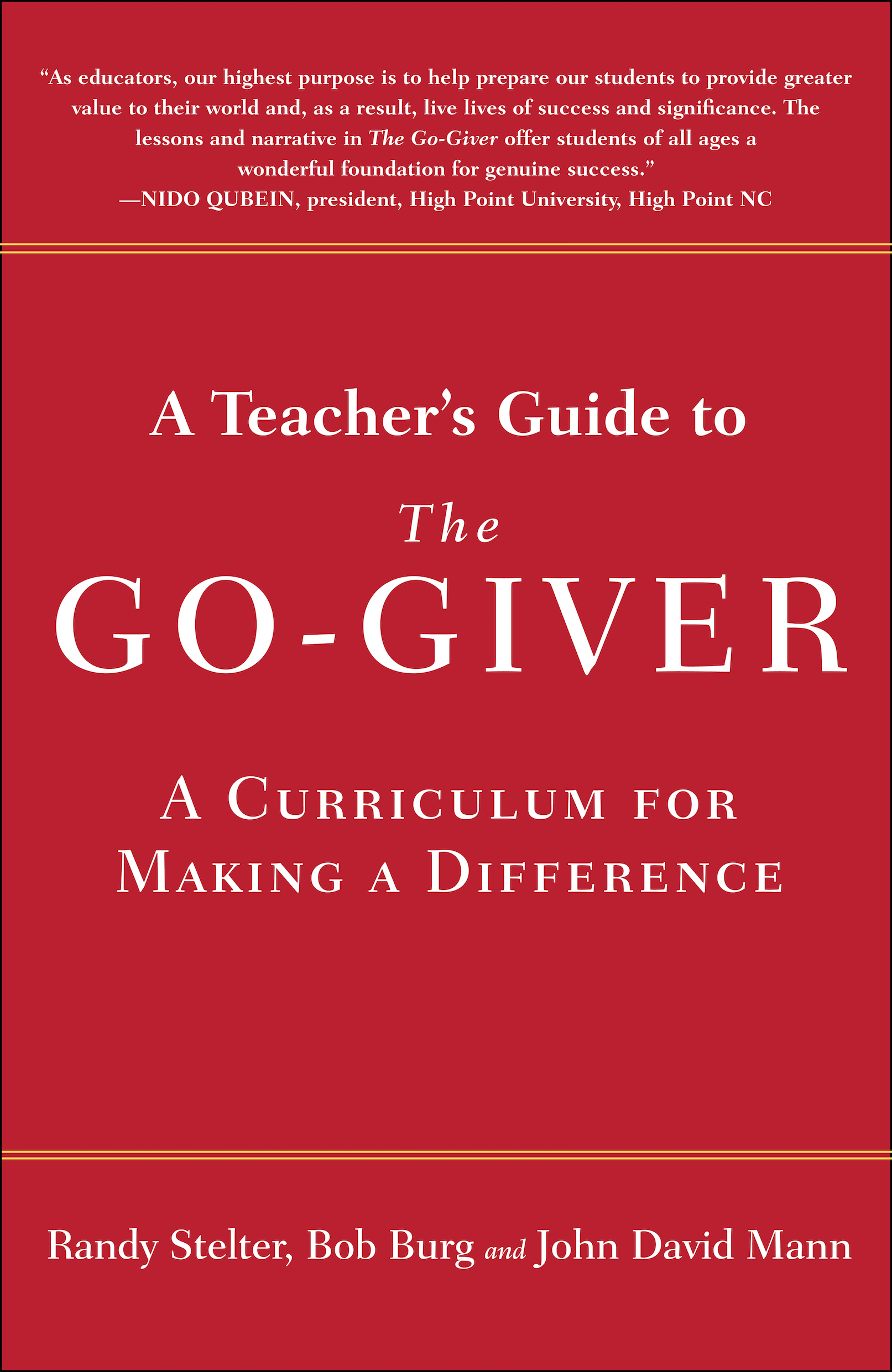 A Teachers Guide To The Go Giver