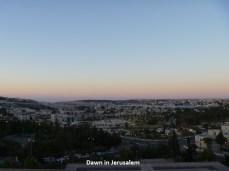 Dawn in Jerusalem