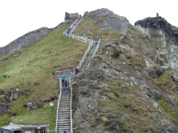 Stairs to Tintagel Castle