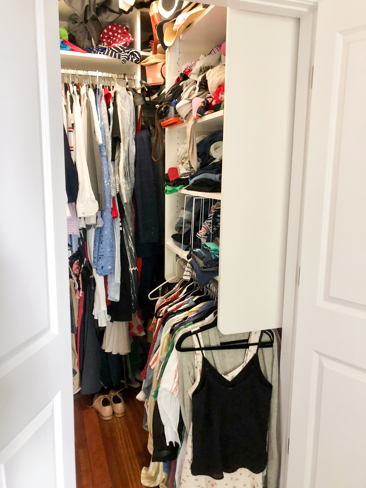 How We Maximized Space In Our Small City Closet
