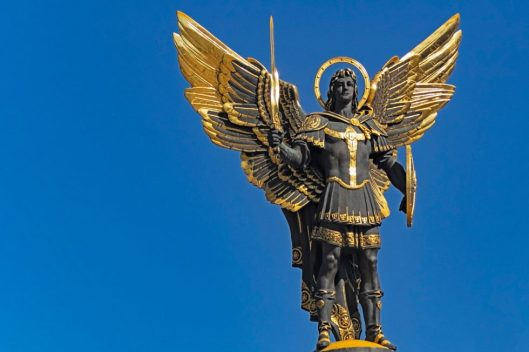 archangel michael wielding sword