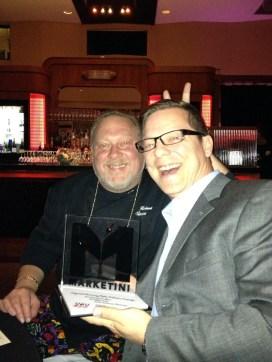 Bruce Rinehart and Kyle Golding celebrate the win