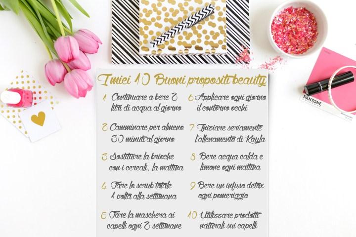 10 buoni propositi beauty