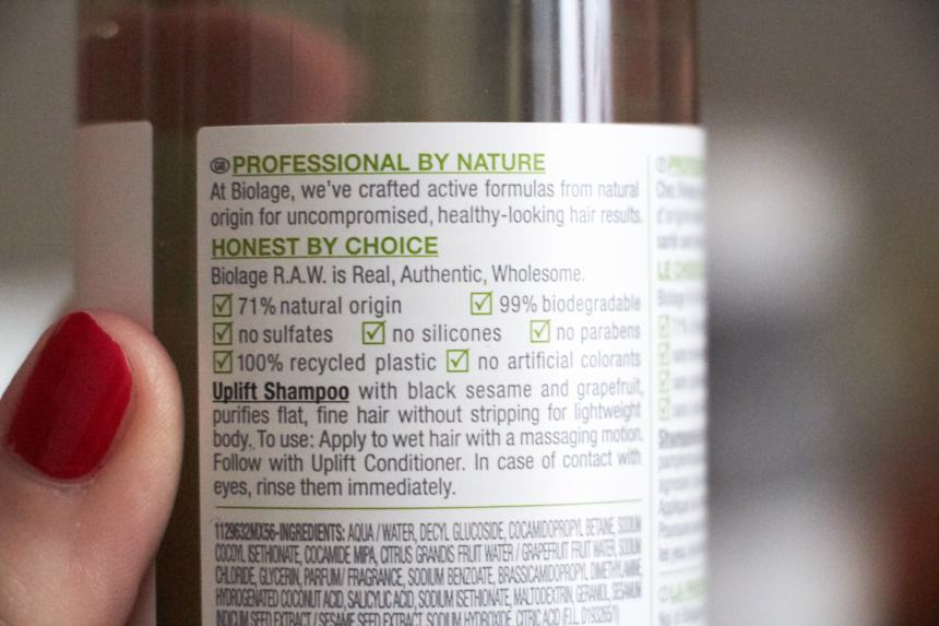 BIOLAGE RAW shampoo 4