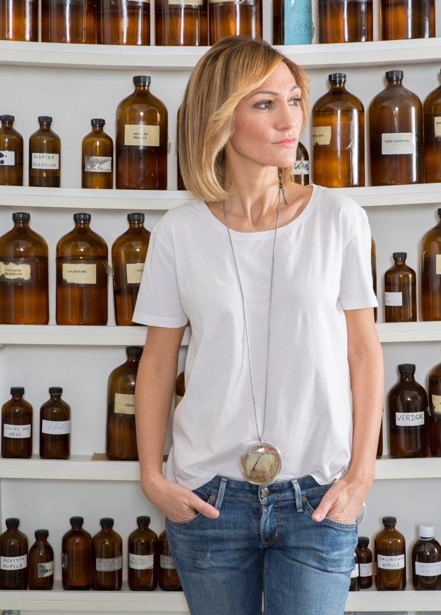 Francesca at laboratory