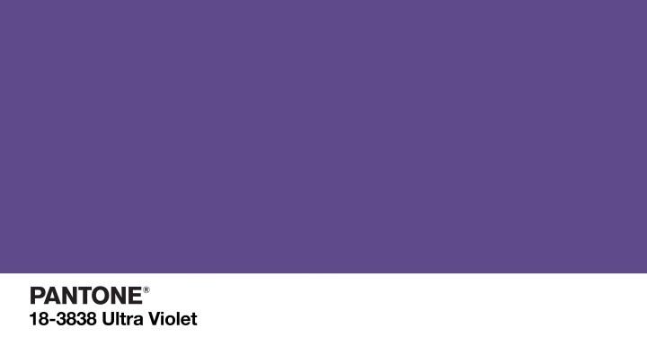 PANTONE 18-3838 Ultra Violet 2018
