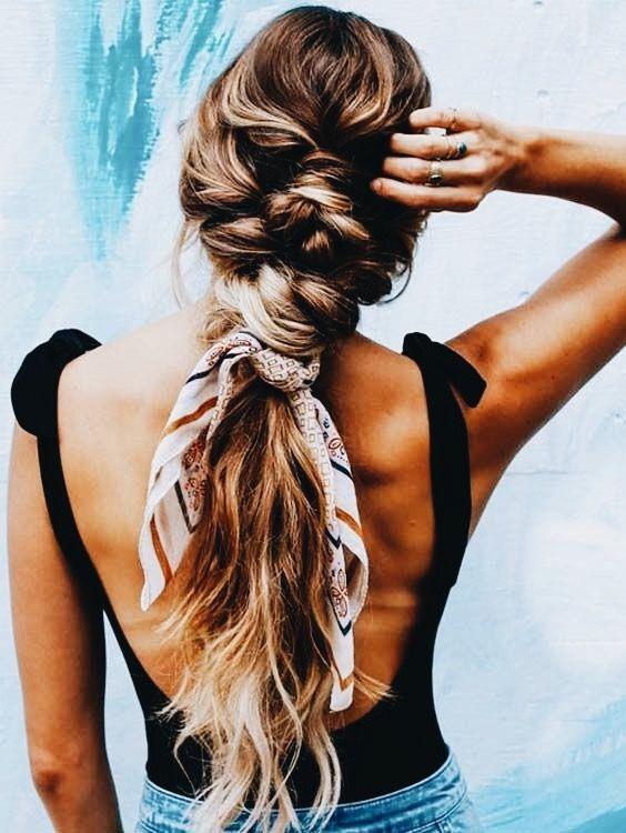 foulard treccia mare