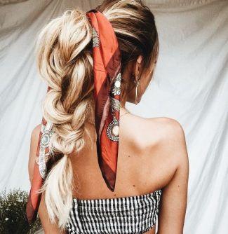 foulard treccia