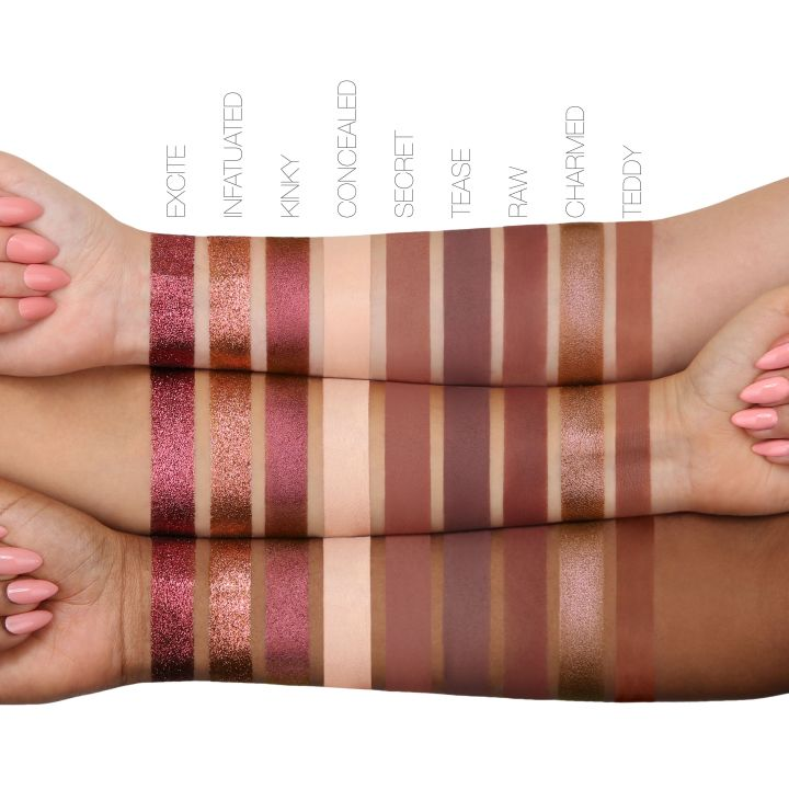 Nude Huda palette swatches 2