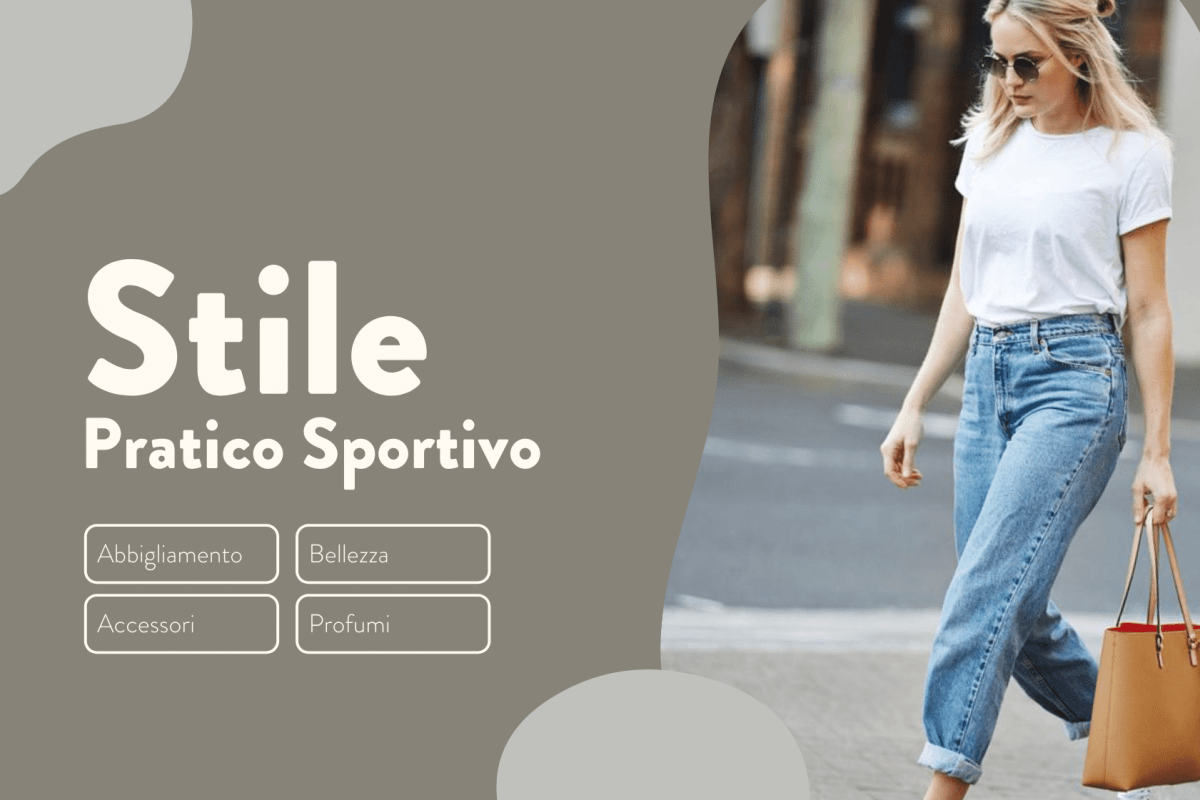 Stile Pratico Sportivo jeans maglietta sneakers