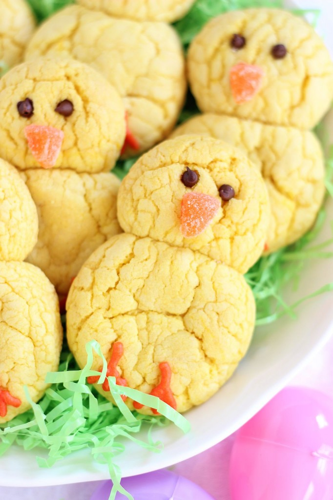 lemon cake mix cookie easter chicks 3