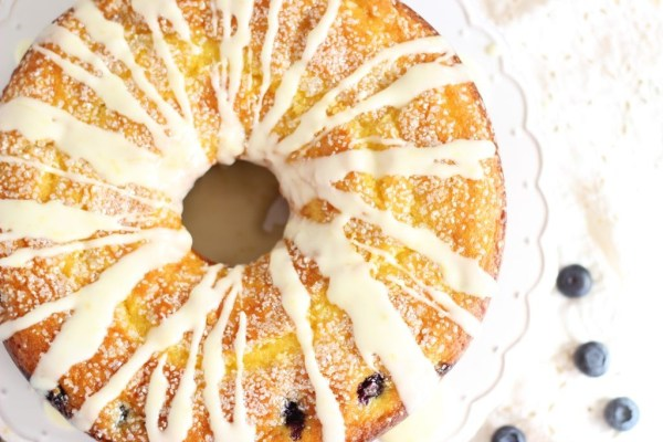 lemon blueberry bundt cake with lemon glaze 21