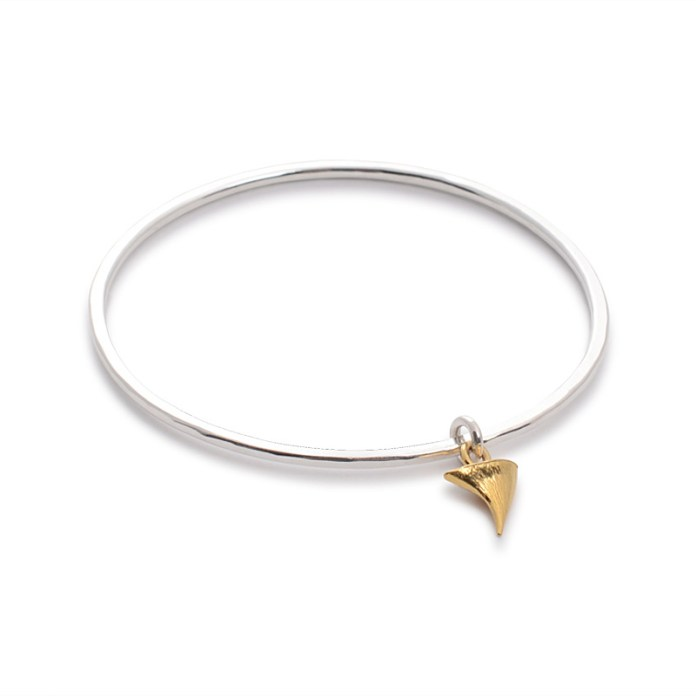 BANGLE WITH THORN RTB01 - silver 18ct yellow gold vermeil