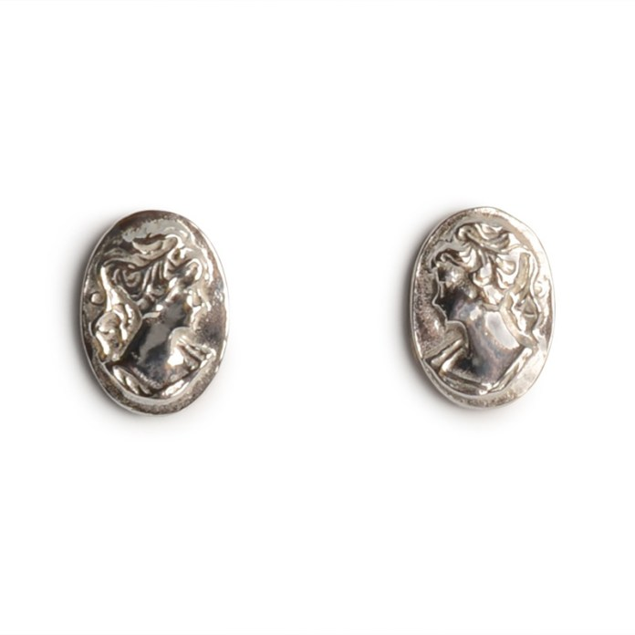 CAMEO STUDS CAE01 - sterling silver