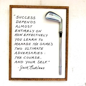 Jack Nicklaus Success in Golf, golf art