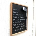 Poetry Reclaimed Wood Golf Plaque