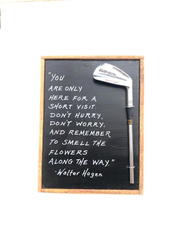 Walter Hagen Golf Quote