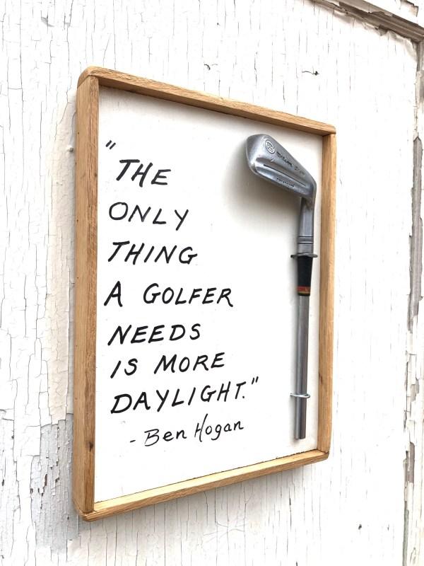 Ben Hogan Wood Golf Sign