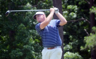 Winthrop golfer Michael McKee from Ware Shoals led the Festival of Flowers until the final hole.