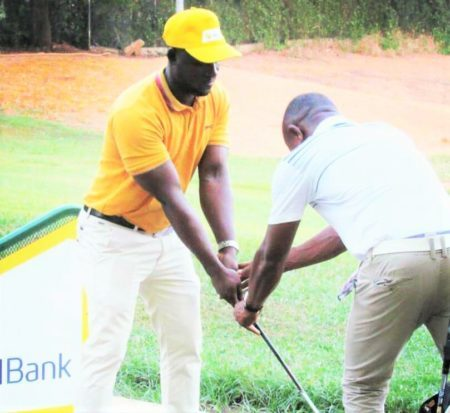 CalBank staff at Achimota Golf Academy to taste golf