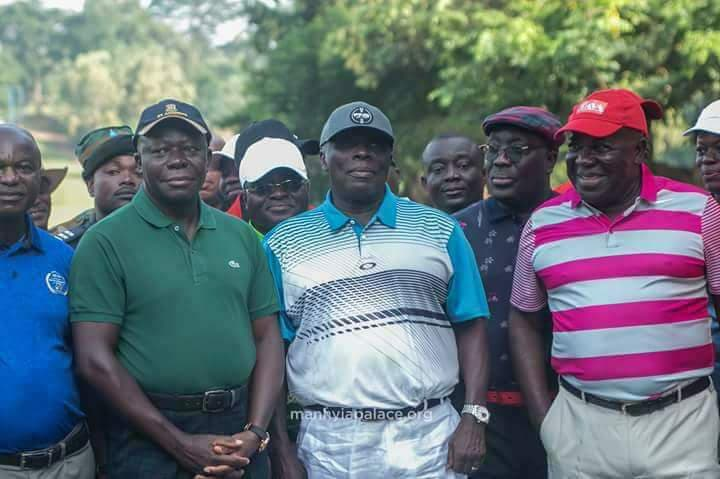 Historic tee off as Asantehene and Okyehene met