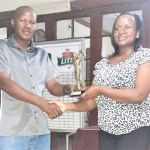 Karoki  PGA wins January 2018 Monthly Mug at Ruiru Sports Club
