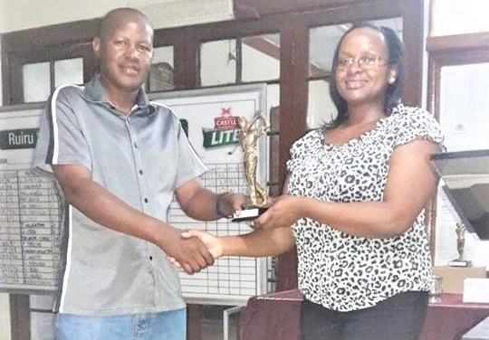 Karoki  PGA wins January 2018 Monthly Mug at Ruiru Sports Club