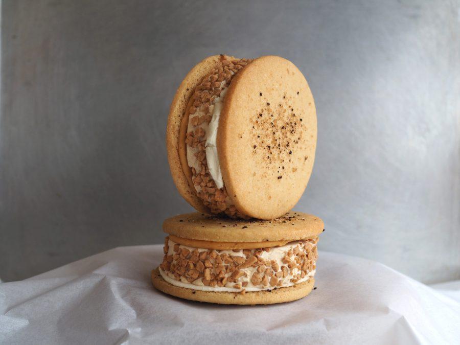 Tahini Coffee Caramel Ice Cream Sandwich Gluten-Free