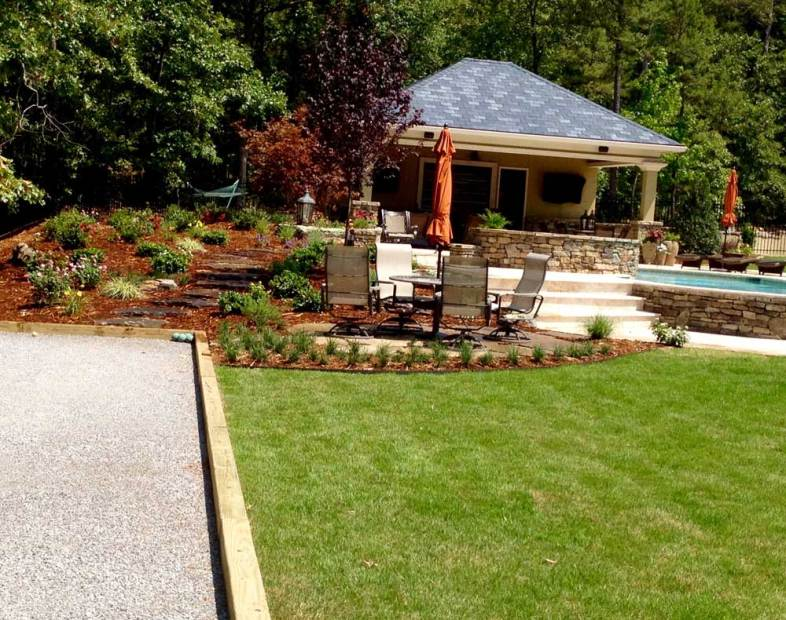 Bocce Ball & Outdoor Living Space