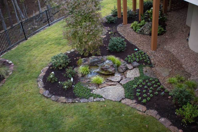 Aerial View of Water Feature Bed