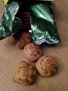 open bag of Hello Panda Matcha flavour