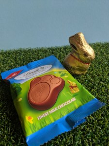 Lindt Chocolate Bunny paw and Lindt Chocolate golden bunny