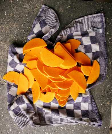 Sliced butternut