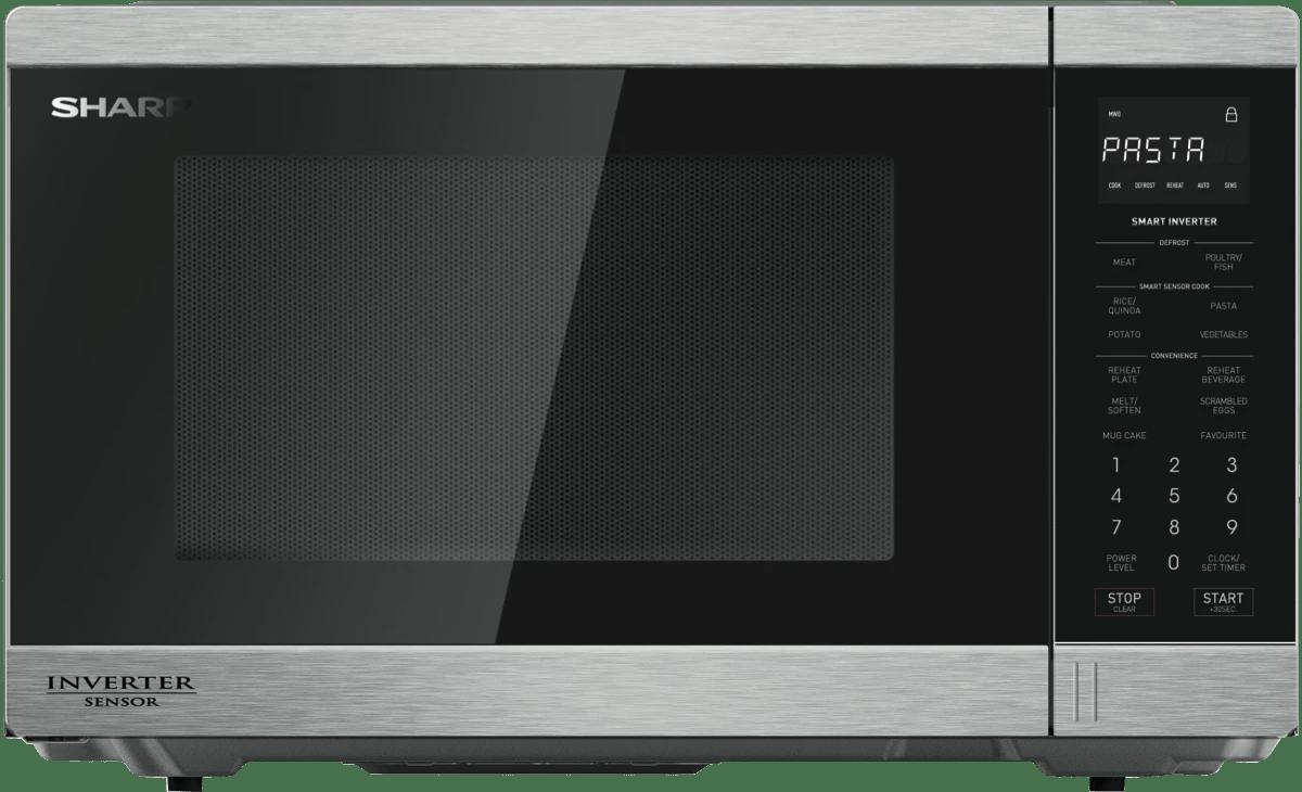 sharp1200w inverter microwave s steel